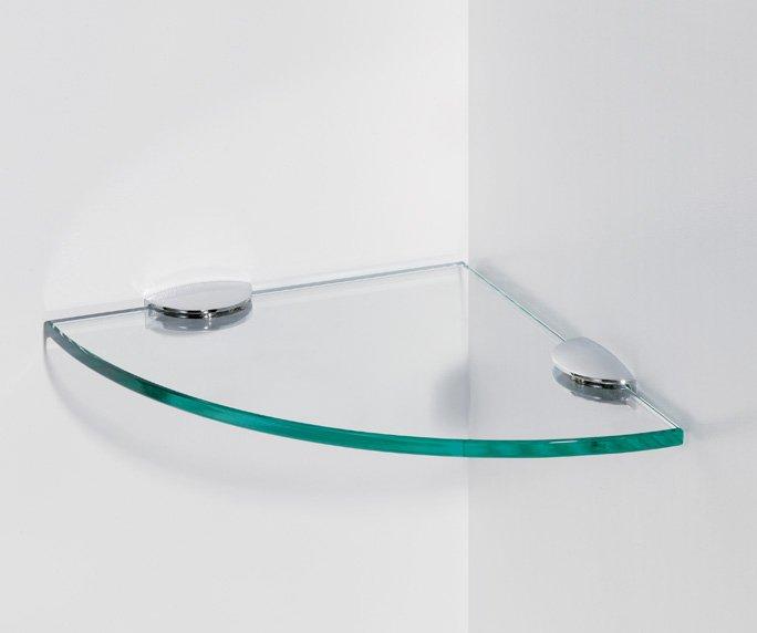 מדף זכוכית פינתי למקלחון
