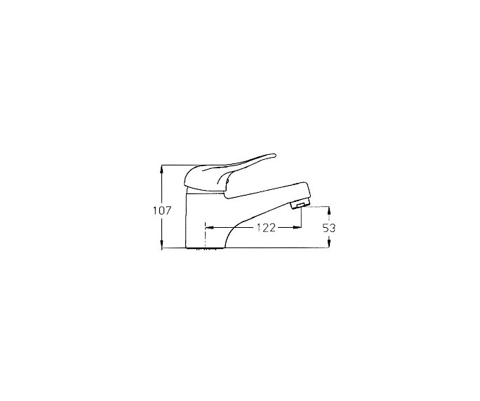 ברז פרח פיה Allegro 300141 diagram