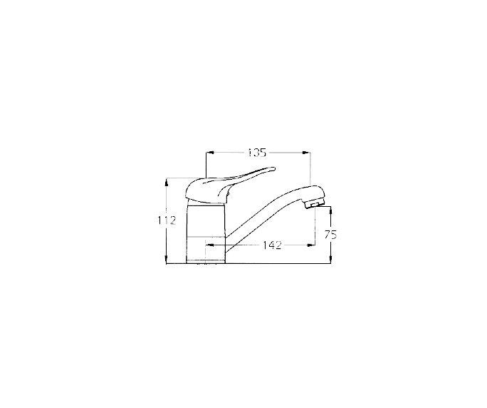 ברז פרח פיה Allegro 300142 diagram