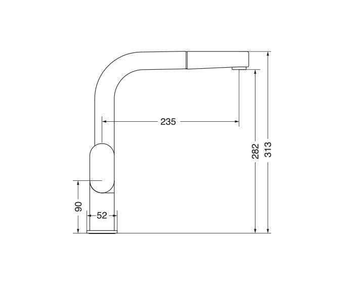 ריף ברז מטבח, Reef 301965 diagram