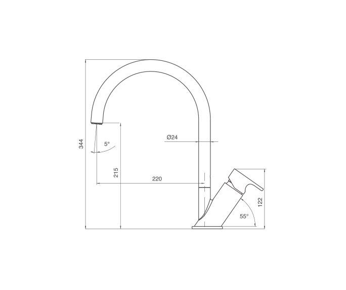 גל ברז מטבח, Wave 305151 diagram