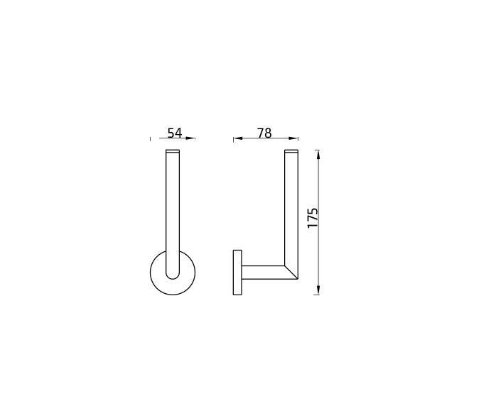 מחזיק נייר טואלט Contour 801686 diagram