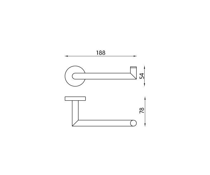 מחזיק פתוח לנייר Contour 801685 diagram