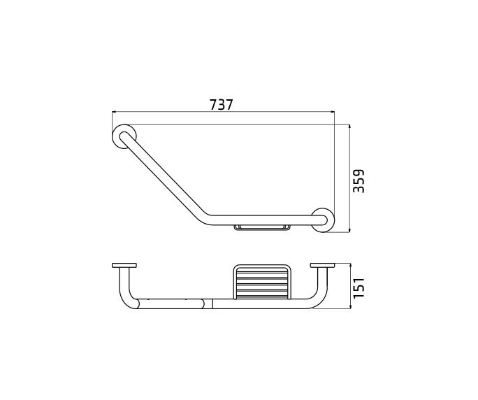 ידית אחיזה זויתית Contour 801848 diagram