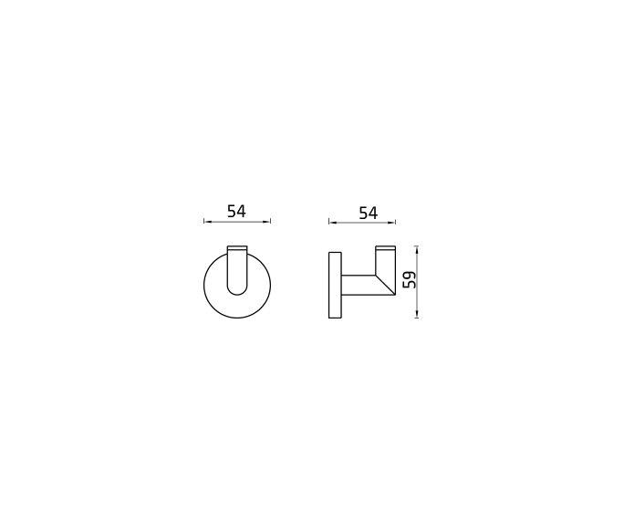 קולב מגבות וו Contour 801689 diagram