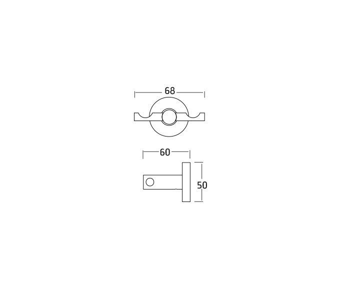 קולב מגבות וו Contour 801690 diagram