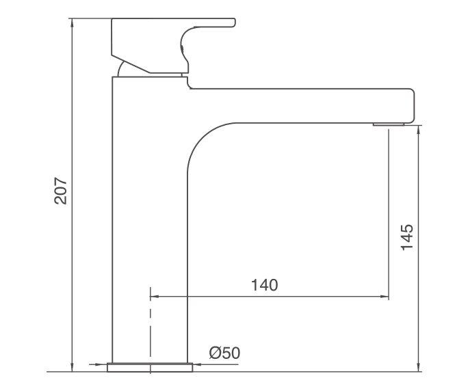 גל ברז רחצה Wave 305143 diagram