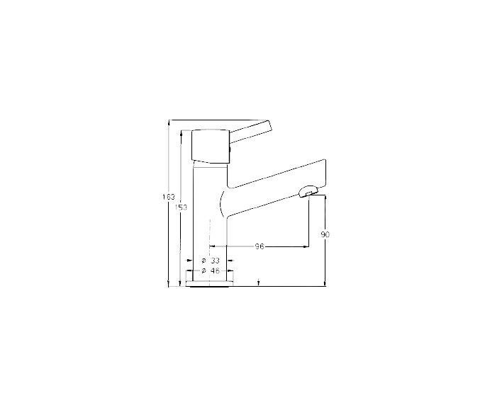 ברז מים קרים Masada 303210 diagram